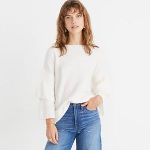 Madewell Tier-Sleeve Pullover Sweater